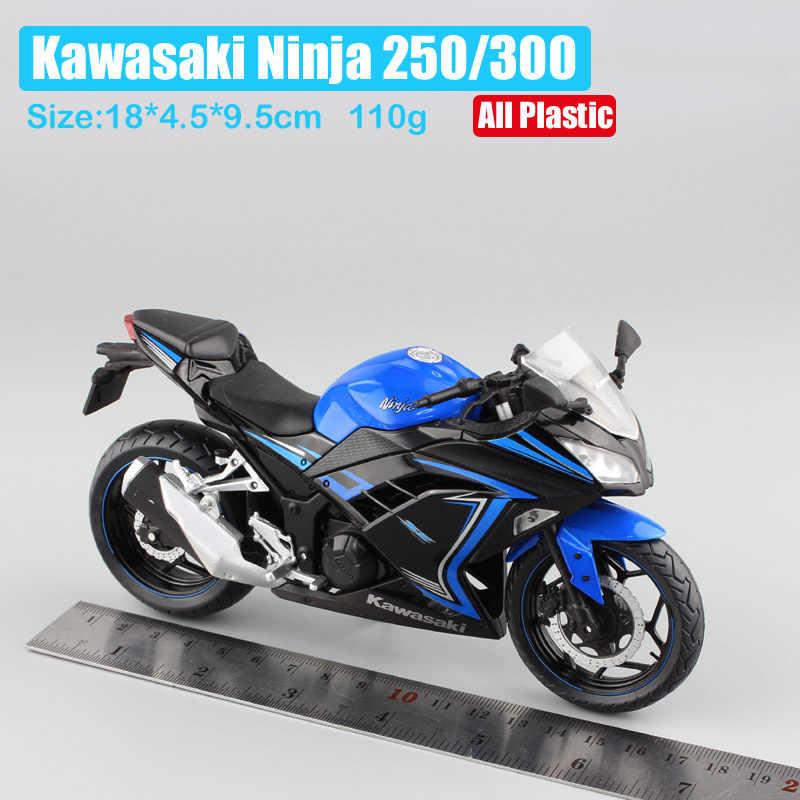 1/12 Automaxx 2013 Kawasaki Ninja 250R Se 300 Race Skala Motor Mainan Olahraga Sepeda Diecasts & Kendaraan Mainan Model Mainan replika