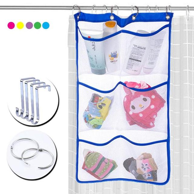 six grid storage bag kitchen bathroom hang bag kids toy organizer bag bedroom