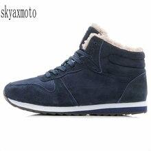 Skyaxmoto Men Shoes Mens Winter For Casual Sneakers Snow Footwear Black shoes