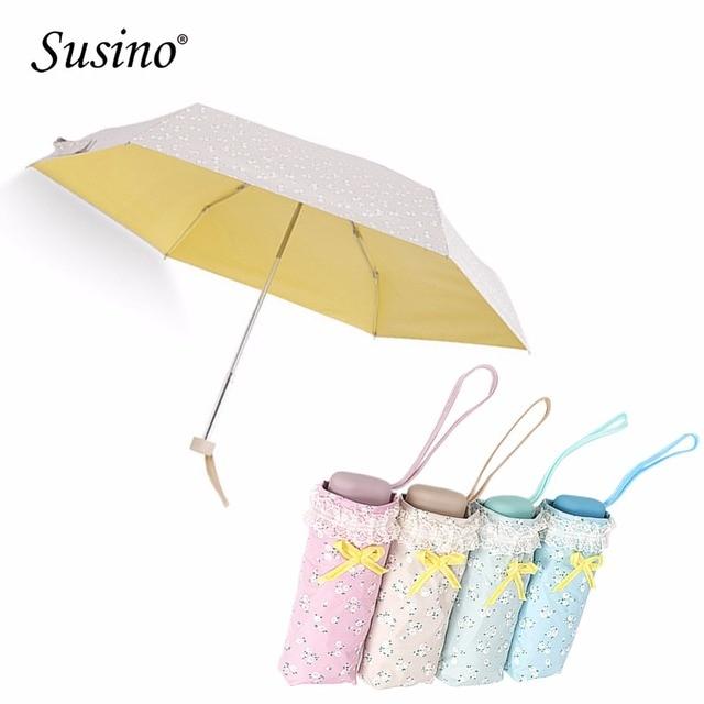 Susino Small Travel Umbrella 95 Anti Uv Sun Ultra Compact Light Folding Pocket Mini