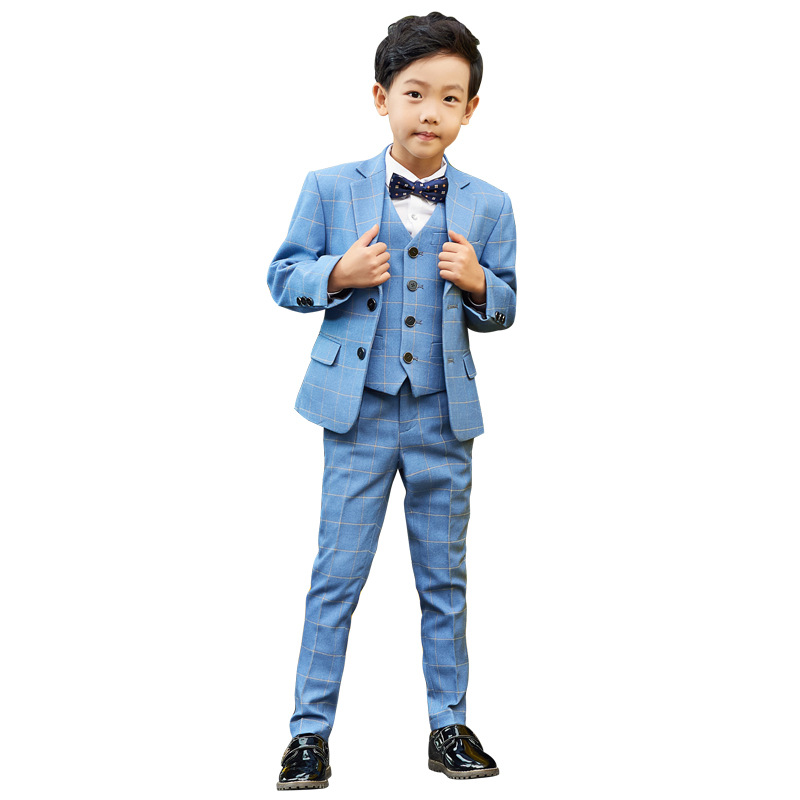2018 Autumn Boys 5Pcs Wedding Costume Kids England Style Formal Blazer Suits Boys Prom Vest Blazer Children Clothing Set G1842018 Autumn Boys 5Pcs Wedding Costume Kids England Style Formal Blazer Suits Boys Prom Vest Blazer Children Clothing Set G184