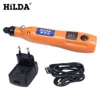 HILDA Mini Lithium Battery Grinder Grinding Accessories Set Multifunction Engraving Machine Electric Tool Kit Dremel Tools