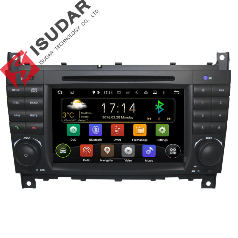 Android5 1 1 Two Din 7 Inch Car DVD Player For Mercedes Benz Sprinter W209 A180