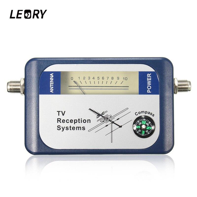 LEORY Cercatore DVB-T Digital Antenna TV Terrestre Antenna Puntatore Misuratore di Potenza Del Segnale TV Ricevitore Satellitare