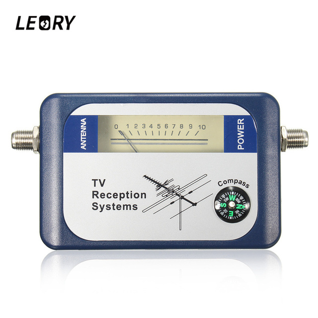 LEORY DVB-T Finder Digital Aerial Terrestrial TV Antenna Signal Strength Meter Pointer TV Satellite Receiver
