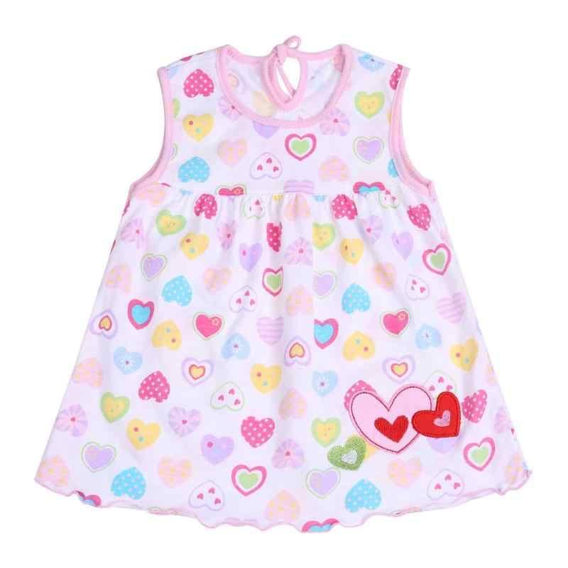 0-2T Primavera Verano bebé niñas sin mangas algodón colorido lindo bebé niña princesa vestido impreso con mariposa verano de 2019