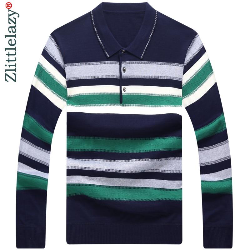 2018 long sleeve striped   polo   shirt men cotton streetwear   polos   shirts mens dress tee shirt poloshirt camisa pol clothes 2667