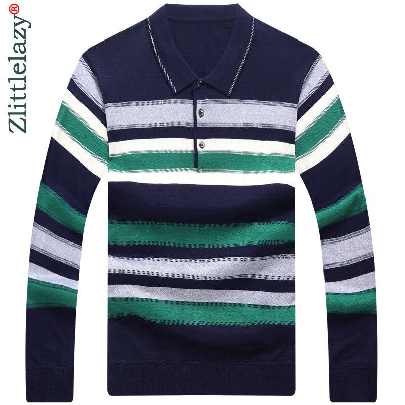 2019 long sleeve striped   polo   shirt men cotton streetwear   polos   shirts mens dress tee shirt poloshirt camisa pol clothes 2667