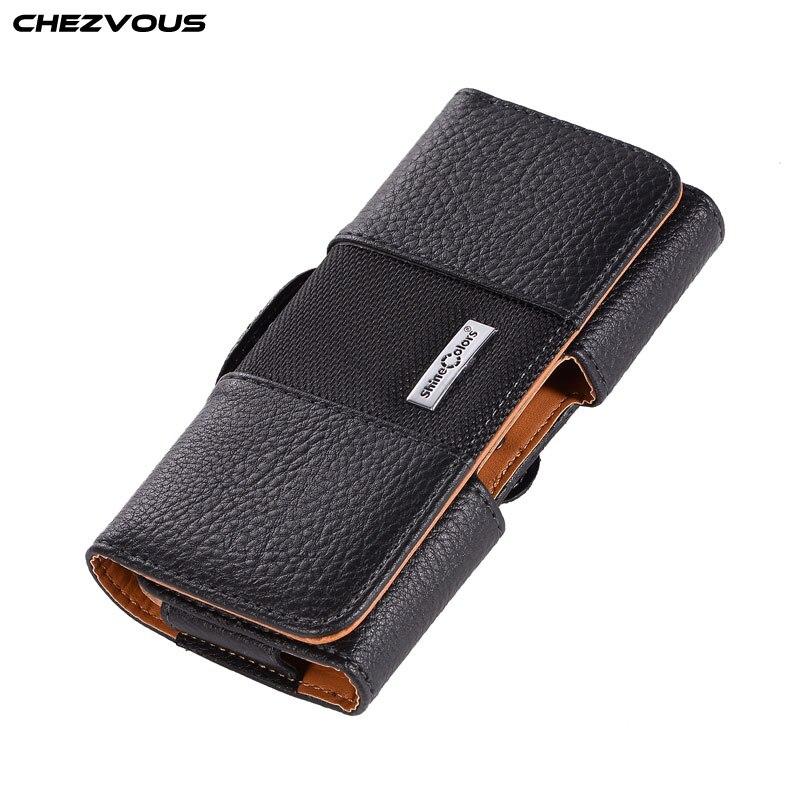 cbcd68f40dd Funda Universal para teléfono de 3,5 ~ 5,7 pulgadas con Clip de cinturón y  Funda de cuero para iPhone X 7, 8, 6 s Plus 5 4S para Samsung S9 S8 plus