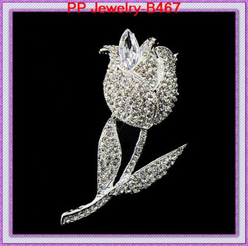 Free shipping Cheap price Rhodium plated crystal alloy Rose brooches Costume brooches!!Bridal costume brooches фото