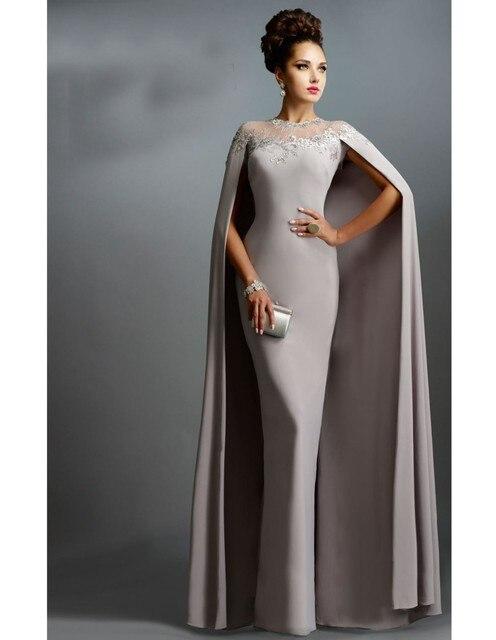 Vestidos elegantes largos con capa