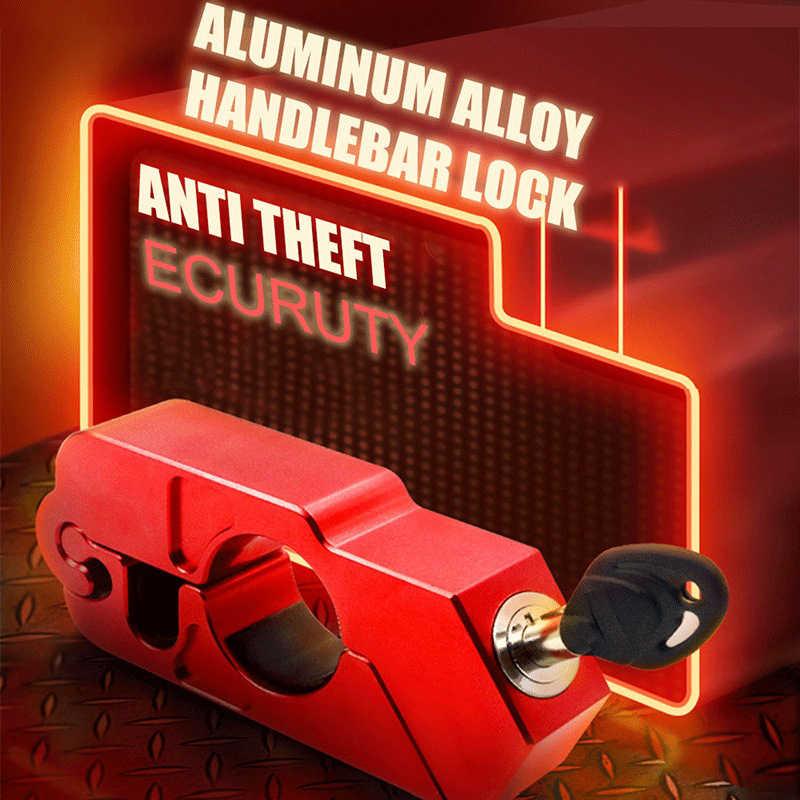 Sepeda Motor Grip Lock CNC Keamanan Kunci Pengaman Stang Handset Tuas Rem Disc Form Locking Skuter ATV Anti-Theft Motor kunci