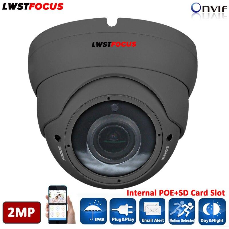 LWSTFOCUS HI3516C SONY IMX323 HD 1080P IP Camera 2 8 12mm Varifocal Manual Zoom 2MP font