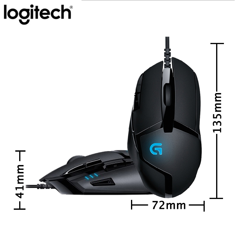 Original Logitech G402 Hyperion Fury FPS Gaming Mouse with Optical 4000DPI High Speed Fusion Engine Gaming Mouse Multiple office image