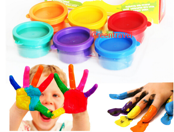 6 pcs/set finger painting Toys ,Innovative items learning & Educational childrens drawing toys, baby drawing products