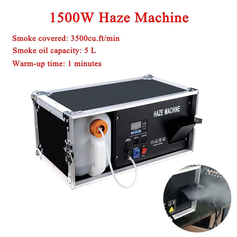 High Output Low Consumption 1500W Haze Machine 5L Liquid Tank Fog Machine For Disco DJ Party Stage LED Effect Equipment жидкость для генераторов эффектов синтез аудио disco fog haze oil 1