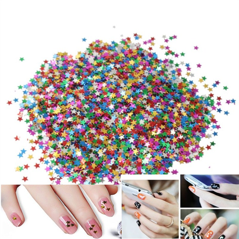 1500 Pcs Multicolor Ster Confetti Metallic Folie Sequin Confetti Voor Birthday Party Wedding Decorations Diy Arts Nail Crafting Shrink-Proof