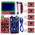 Stampante 3D CNC Kit Mega 2560 R3 + Reprap RAMPE 1.4 Controller + LCD 12864 display + 5 pz A4988 Stepper Driver