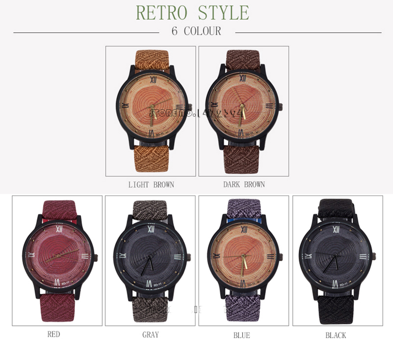 New Wood Women Watches Retro 16 Casual FEIFAN Brand Vintage Leather Quartz Clock Woman Fashion Simple Face Wooden Watch Black 9
