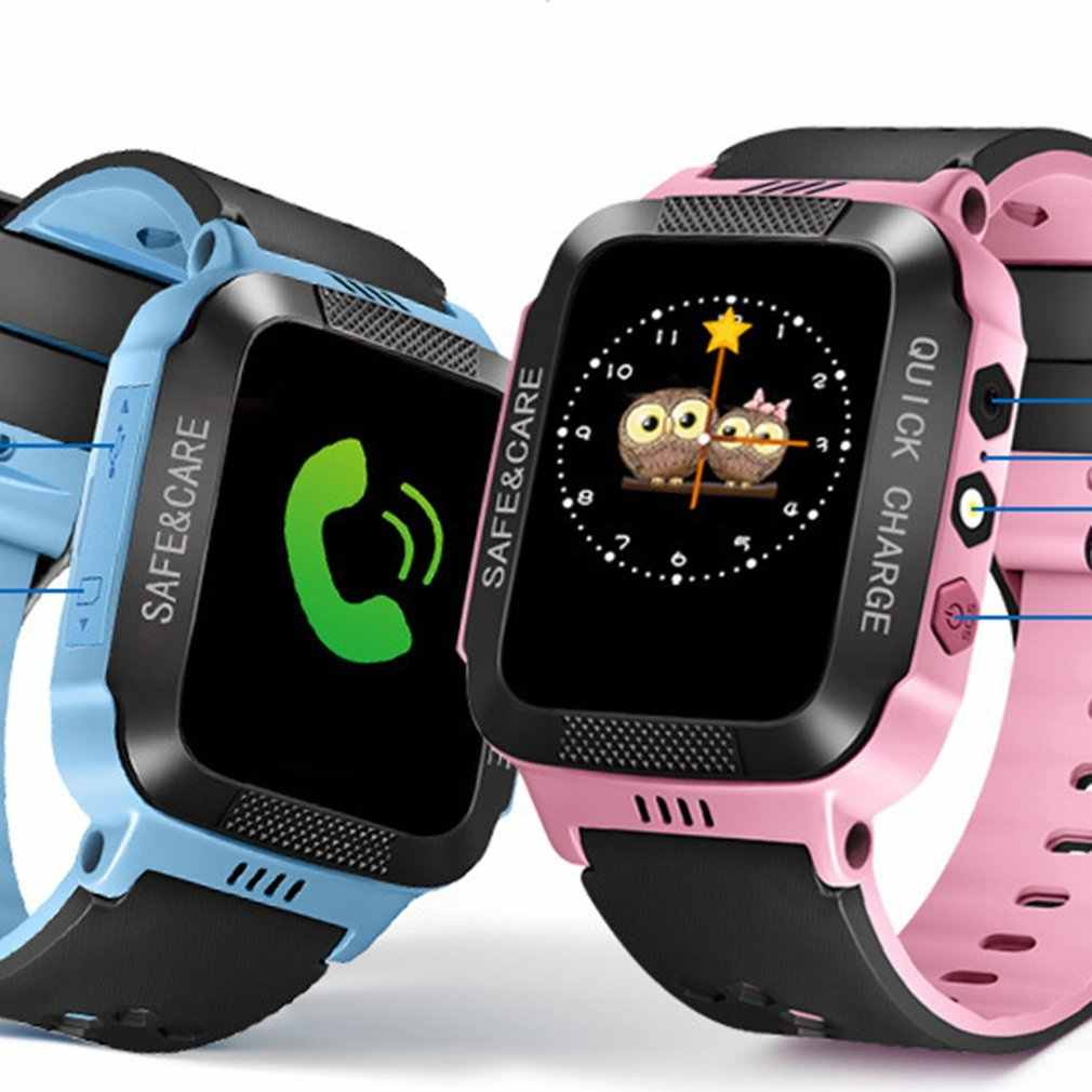 Y21S Smart Bracelet With Camera Flashlight Touch Screen Smart Watch SOS Phone Call GPRS Tracker SIM Children Watch