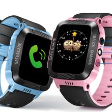 Y21S Smart Bracelet With Camera Flashlight Touch Screen Watch SOS Phone Call GPRS Tracker SIM Children