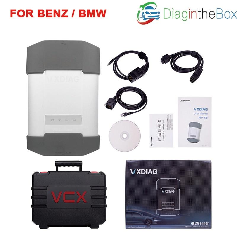 100% outil de Diagnostic MULTI Original d'allscanner VXDIAG pour Benz/bmw puissant que l'icom A2 A3 prochain étoile C4 avec le logiciel Original
