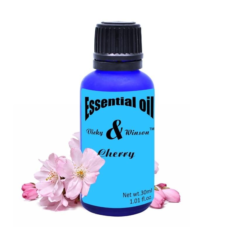 Vicky & winson Cherry aromaterapie éterické oleje 30ml Zabraňte stárnutí jasné a kompaktní pokožky, aby pokožka měkká a elastická VWXX26