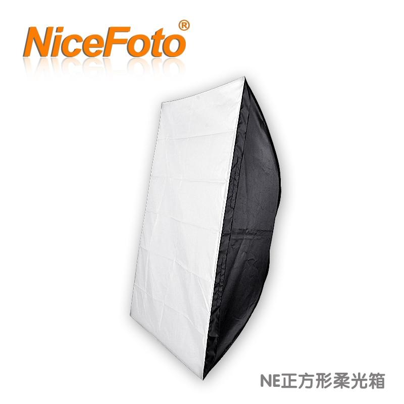 ФОТО NiceFoto studio flash softbox economic type rectangle softbox ne08-60x60cm