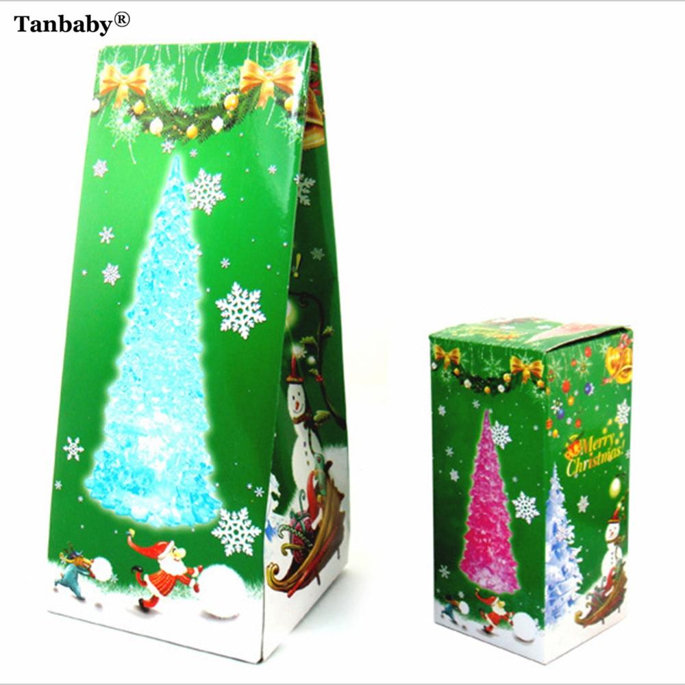 Tanbaby 5PCS/LOT Colorful Crystal Acrylic Christmas Tree LED Night ...