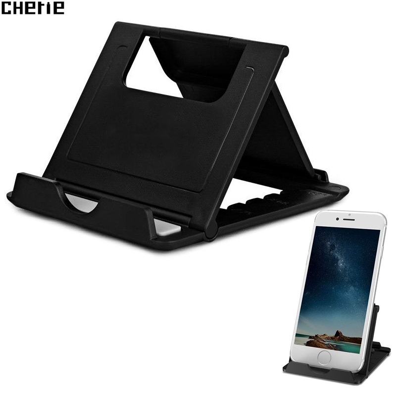 Cherie Cell Phone Holder Stand For iPhone XS Max XR Xiaomi mi 9 Samsung S10 Plus Adjustable Universal Mobile Tablet Desk Bracket(China)
