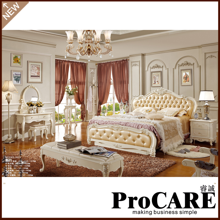High Quality Corium Doble Bed French Princess Bed Home