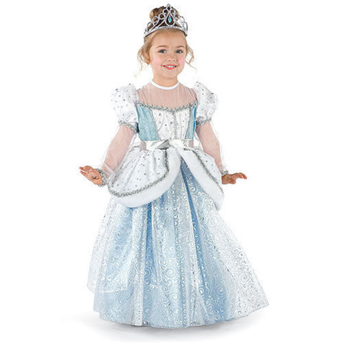 Hot Girls Cinderella Light Blue Princess Kids Beautiful Clothing Party Wedding Special Occasion Dress