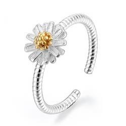 2019 Новая мода цвет серебристый, золотой кольцо с маргариткой для Для женщин Дамы для девочек подарок на день рождения ювелирные изделия