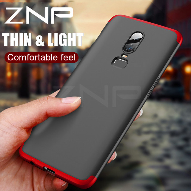 quality design e8464 751df US $3.59 25% OFF|ZNP Luxury 360 Degree Full Cover Phone Case for Oneplus 5  5T 6 Protection Shockproof Cover Shell for One plus 1+5T 1+6 Case Capa-in  ...
