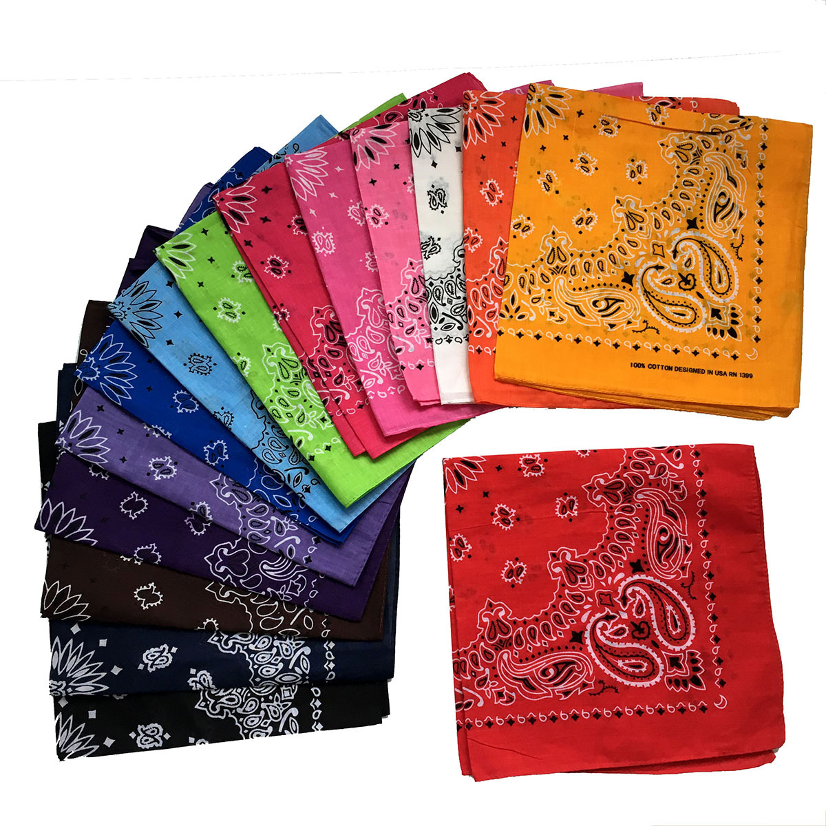 Multipurpose Unisex Paisley Bandanas Hair Bands Headwear Hip-hop Neck Head Wrap Scarf Wristscarf Accessories For Men Woman