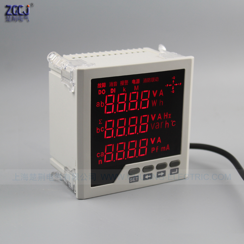 3 phase meter multifunction panel meter Measure and display 3 phase electric parameters panel meter 3 phase power multimeter d2y panel size 120 120 low price and high quality lcd single phase digital multifunction meter for distribution box