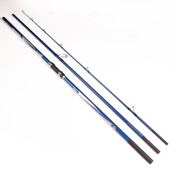 AZJ 2017 Superhard Carbon Fishing Rod Far Casting 4.2 M Three Pole Rod Beach Long Shot Throw Pole Sea Rod