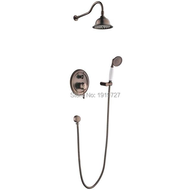 Oil Rubbed Bronze Bath Shower Faucet Set 8\