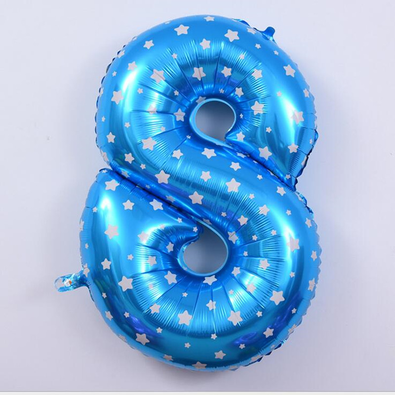 2015 party baloons 40 inches large Numbers Decorate adornment digital foil balloons birthday balloons