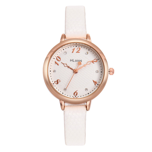 Casual Ladies Watch Fashion Female Leather Quartz Wrist Watch Delicate Women Wat