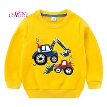 лучшая цена Boys T shirts 2019 Autumn Winter Kids Sweatshirt Plush Girls T-shirt Long Sleeve Shirts Warm Boys Clothes Tops 3 5 7 9 11 Years