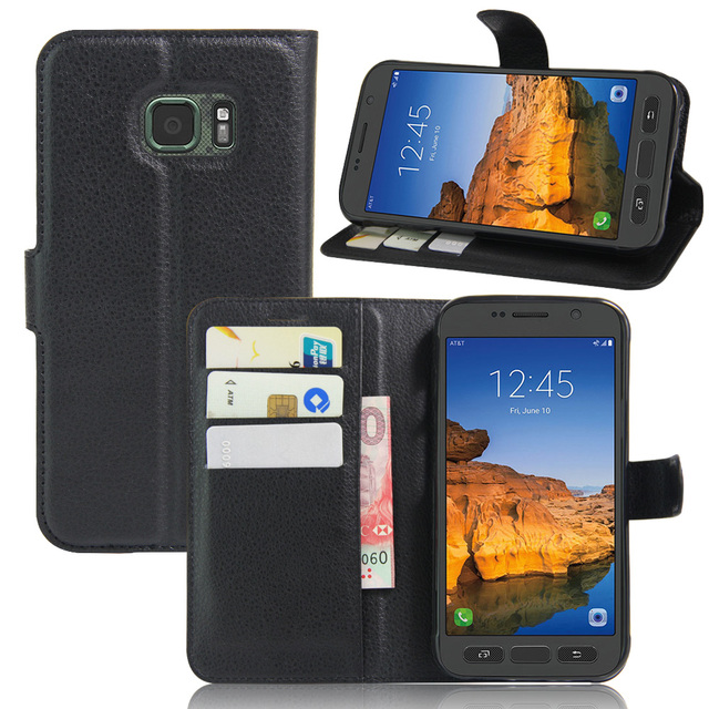 timeless design a71d3 7d5a9 US $3.39 21% OFF|For Samsung Galaxy S7 active Phone Cases Stand Wallet  Leather Card Holder Flip Magnetic Cover Case For Samsung Galaxy S7  active-in ...
