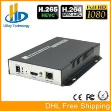 Envío Libre de DHL HEVC H.265 IPTV Codificador HDMI/H.264 Hardware HD Codificador de Vídeo IP Compatibilidad Con HTTP, RTSP, RTMP, UDP, ONVIF
