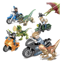 Jurassic World Park Dinosaur 4 In 1 Set Pterosaur Stygimoloch Figures bricks Toys Children Gift