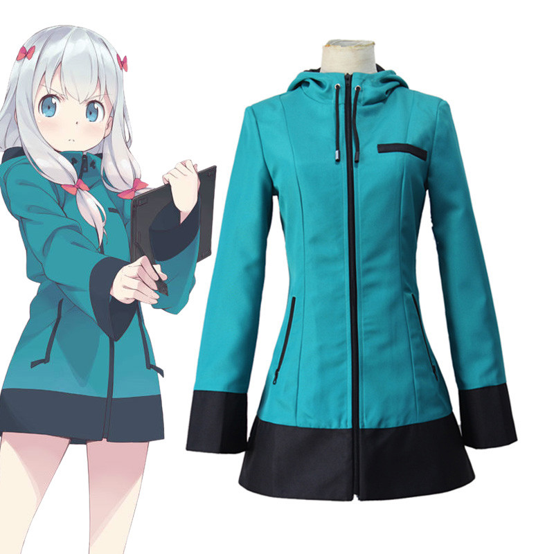 Anime Eromanga Sensei Cosplay Costumes Sagiri Izumi Uniform Cosplay Costume Blue Hooded Jacket Fancy Party Performance Uniform