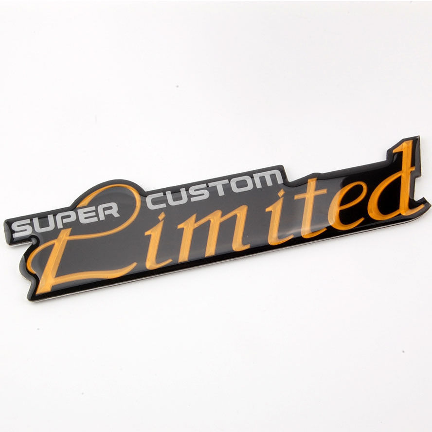 Car sticker maker in philippines - Auto Vehicles Decal Emblem Super Custom Limited Metal Side Rear Sticker Car China Mainland
