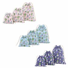 Fashion Men Women Backpack Cactus Print Sack Travel Drawstring Bags Rucksack Size L/M/S(China)