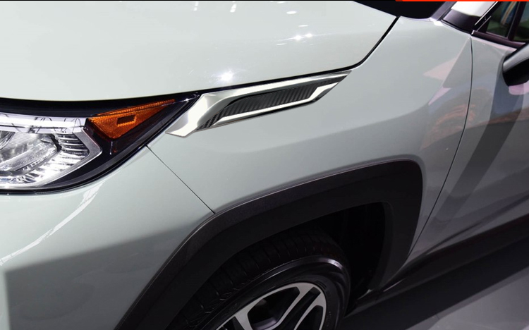 2Pcs ABS Chrome Front Head Light Lamp Cover Trim Fit For Toyota RAV4 2019 2020