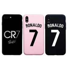 Brand Football RONALDO 7 Number CR7 Soft Silicon Case For iPhone 7 8 Plus 6 6s Plus Cover For iphone X XS Max XR 5s SE Cases(China)