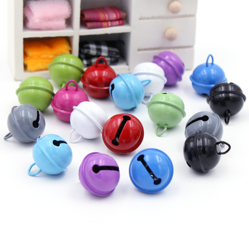 15PCS Rich And Colorful Christmas Bells Beads Jingle Bells Christmas Party Decoration Pendants DIY Crafts Handmade Accessories